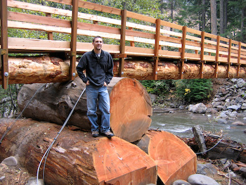 log bridge oregon national forest